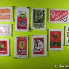 Bustine di zucchero di collezione: REF: SA-1234 COLECCION MILES SOBRES AZUCAR SUGAR PACKET LEER INT. 10 UD. CAFE CASTELLS MOCA LA ESTRE. Lote 241901110