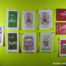 Bustine di zucchero di collezione: REF: SA-1234 COLECCION MILES SOBRES AZUCAR SUGAR PACKET LEER INT. 10 UD. CAFE DECANO EL LAGO TUPINAM. Lote 241901235