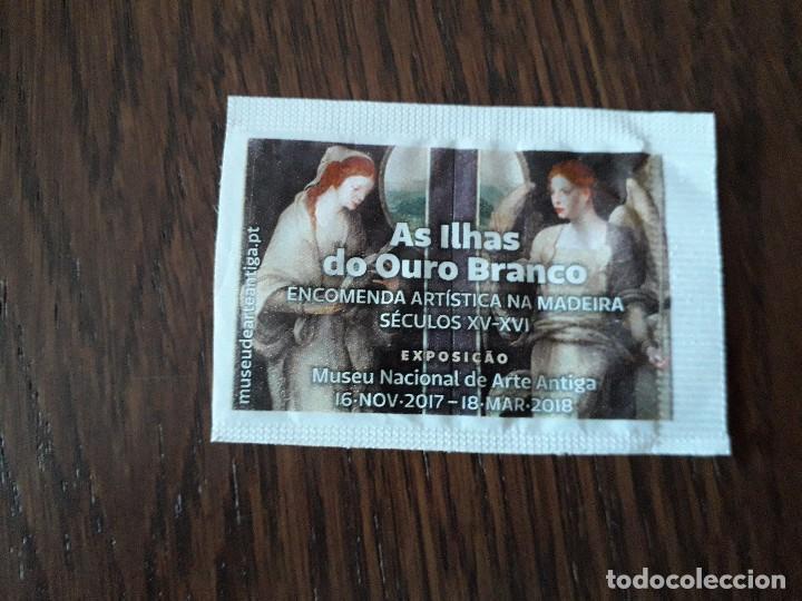 SOBRE DE AZÚCAR VACÍO DE PUBLICIDAD, MUSEU NACIONAL DE ARTE ANTIGA-DELTA CAFES, PORTUGAL. (Coleccionismos - Sobres de Azúcar)