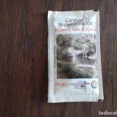 Sobres de azúcar de colección: SOBRE DE AZÚCAR VACÍO DE PUBLICIDAD, CAMINO DE PEREGRINACIÓN A SANTO TORIBIO DE LIÉBANA.CANTABRIA. Lote 242027695