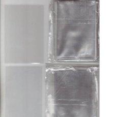 Sobres de azúcar de colección: 100 FUNDAS INDIVIDUALES PARA CALENDARIOS, CROMOS, LOTERÍA, BILLETES, POSTALES, SOBRES AZUCAR. Lote 242137055