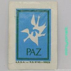 Sobres de azúcar de colección: SOBRE DE AZÚCAR SERIE NAVIDAD - PAZ - BON NATALE. AESA 10 GR.. Lote 242273270