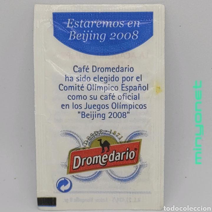 Sobres de azúcar de colección: Sobre de azúcar Serie Beijing 2008 - La academia olímpica. Cafés Dromedario, 8 gr. - Foto 2 - 242273920
