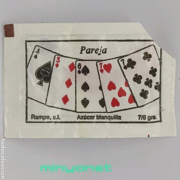 SOBRE DE AZÚCAR SERIE POKER - PAREJA. RAMPE, 7/8 GR. - PÓQUER (Coleccionismos - Sobres de Azúcar)