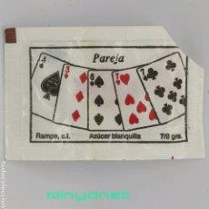 Sobres de azúcar de colección: SOBRE DE AZÚCAR SERIE POKER - PAREJA. RAMPE, 7/8 GR. - PÓQUER. Lote 242275850