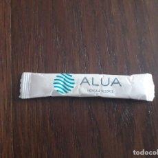 Sobres de azúcar de colección: SOBRE DE AZÚCAR VACÍO DE PUBLICIDAD, ALUA HOTELS & RESORTS.. Lote 243083710