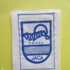 Sachets de sucre de collection: REF: SA-1234 COLECCION MILES SOBRE AZUCAR SUGAR PACKET LEER INT. 1 UD. ESCUDOS JACA. Lote 243354490