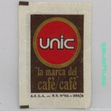 Sobres de azúcar de colección: SOBRE DE AZÚCAR DE CAFÉS UNIC. AESA, 10 GR.. Lote 243776370