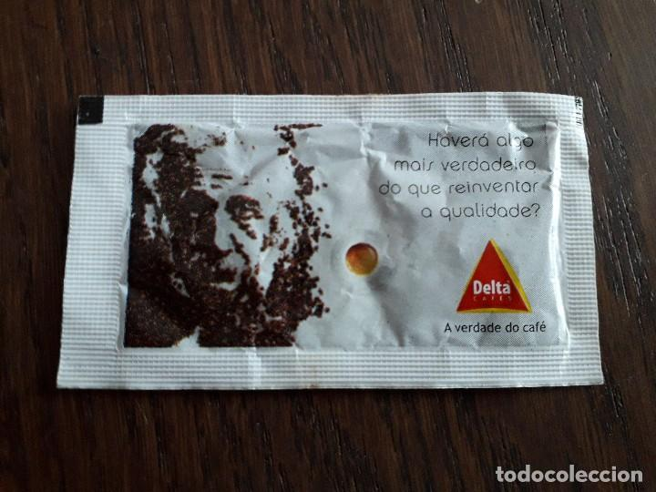 Sobres de azúcar de colección: sobre de azúcar vacío de publicidad, cafés Delta. Portugal. - Foto 2 - 244019255