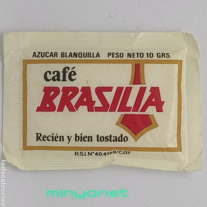 Sobres de azúcar de colección: Sobre de azúcar Serie automóviles antiguos - Fiat 1907. Cafés Brasilia. Ind. Bolsera, 10 gr. - Foto 2 - 245371100