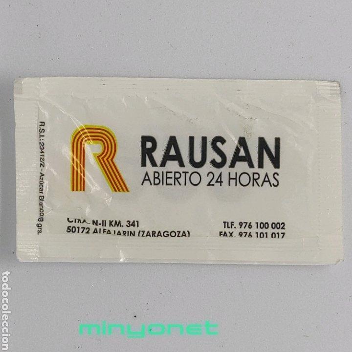 SOBRE DE AZÚCAR DEL HOTEL RAUSAN DE ALFAJARIN, ZARAGOZA. 8 GR. (Coleccionismos - Sobres de Azúcar)