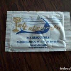Sobres de azúcar de colección: SOBRE DE AZÚCAR VACÍO DE PUBLICIDAD, MARISQUERÍA EL TELÉGRAFO, MADRID.. Lote 245518330