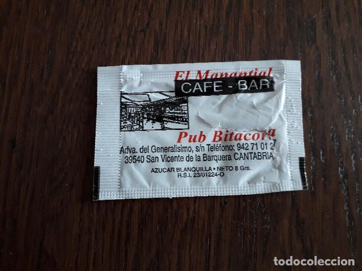 SOBRE DE AZÚCAR VACÍO DE PUBLICIDAD, CAFÉ BAR EL MANANTIAL-PUB BITÁCORA. SAN VICENTE DE LA BARQUERA. (Coleccionismos - Sobres de Azúcar)