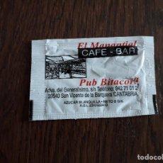 Sobres de azúcar de colección: SOBRE DE AZÚCAR VACÍO DE PUBLICIDAD, CAFÉ BAR EL MANANTIAL-PUB BITÁCORA. SAN VICENTE DE LA BARQUERA.. Lote 245519185