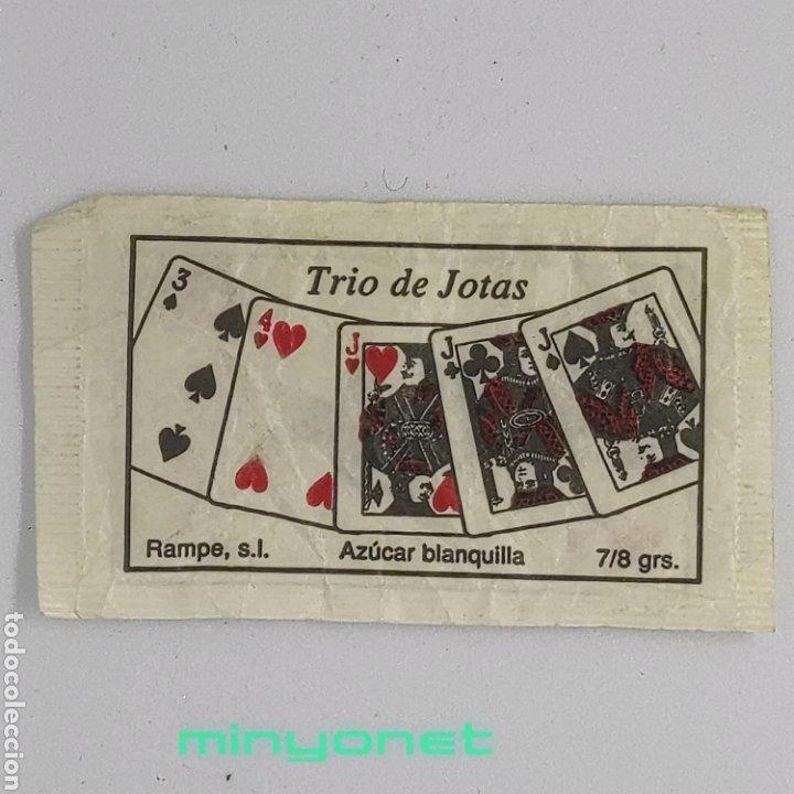 SOBRE DE AZÚCAR SERIE POKER - TRIO DE JOTAS (AZUL). RAMPE, 7/8 GR. (Coleccionismos - Sobres de Azúcar)