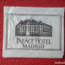 Sobres de azúcar de colección: SOBRE DE AZÚCAR PACKET PACKAGE OF SUGAR SUCRE ZUCKER ZUCCHERO VACÍO HOTEL PALACE MADRID SPAIN VER.... Lote 254307715