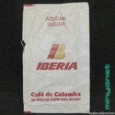 Sobres de azúcar de colección: SOBRE DE AZÚCAR DE IBERIA - CAFÉ DE COLOMBIA - AEROLÍNEAS - AIRLINES - AIRWAYS. Lote 254495425