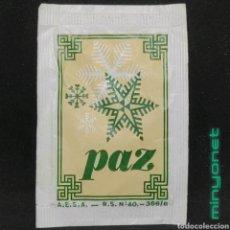 Sobres de azúcar de colección: SOBRE DE AZÚCAR SERIE NAVIDAD - PAZ - FROHE WEIHNACHTEN. AESA, 10 GR.. Lote 254499250