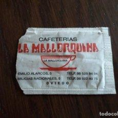 Sobres de azúcar de colección: SOBRE DE AZÚCAR VACÍO DE PUBLICIDAD, CAFETERÍAS LA MALLORQUINA, OVIEDO.. Lote 254529365