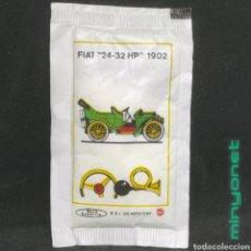 Sobres de azúcar de colección: SOBRE DE AZÚCAR SERIE AUTOMÓVILES ANTIGUOS - FIAT 24-32 HP 1902. EV. BARA EZQUERRA. Lote 256114570