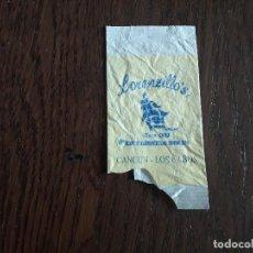 Sobres de azúcar de colección: SOBRE DE AZÚCAR VACÍO DE PUBLICIDAD, LORENZILLO'S, CANCÚN, LOS CABOS. MÉXICO.. Lote 260423535