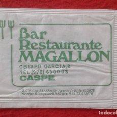 Sobres de azúcar de colección: SOBRE DE AZÚCAR PACKET PACKAGE OF SUGAR SUCRE ZUCKER ZUCCHERO VACÍO BAR RESTAURANTE MAGALLON CASPE. Lote 261108255