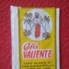 Sobres de azúcar de colección: SOBRE AZÚCAR PACKET PACKAGE OF SUGAR SUCRE ZUCKER ZUCCHERO VACÍO CAFÉS VALIENTE PATERNA VALENCIA.VER. Lote 261243555