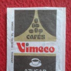 Sobres de azúcar de colección: SOBRE AZÚCAR PACKET PACKAGE OF SUGAR SUCRE ZUCKER ZUCCHERO VACÍO CAFÉS VIMECO COFFEE EMPTY VER FOTOS. Lote 261247040