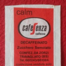 Sobres de azúcar de colección: SOBRE AZÚCAR PACKET PACKAGE OF SUGAR SUCRE ZUCKER ZUCCHERO VACÍO CAFFE CAFÉ SEGAFREDO ZANETTI CALM... Lote 261258720