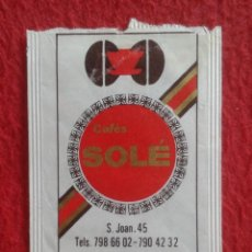 Sobres de azúcar de colección: SOBRE AZÚCAR PACKET PACKAGE OF SUGAR SUCRE ZUCKER ZUCCHERO VACÍO CAFÉS SOLÉ MATARÓ LA CIAL DEL SUCRE. Lote 261260020