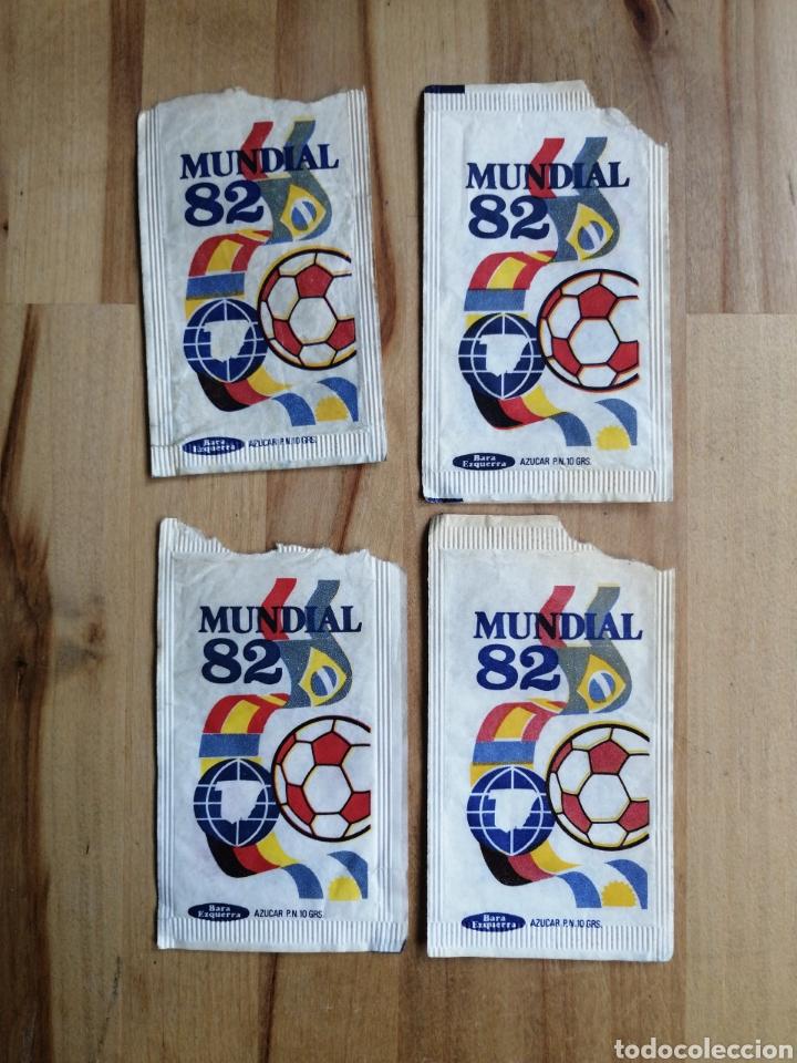 Sobres de azúcar de colección: Lote 27 sobres azucar mundial 82 - Foto 5 - 264143460