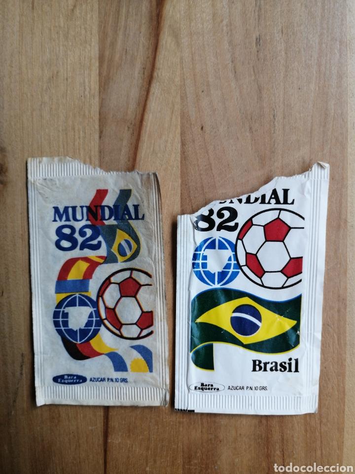 Sobres de azúcar de colección: Lote 27 sobres azucar mundial 82 - Foto 6 - 264143460