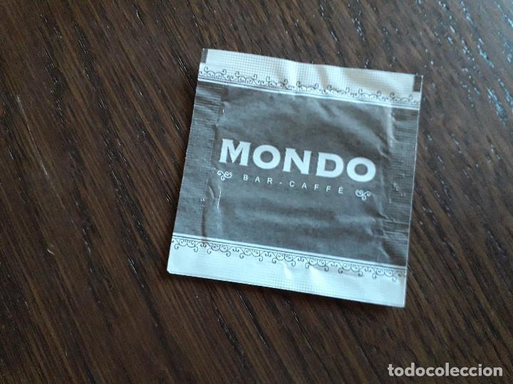 Sobres de azúcar de colección: sobre de azúcar vacío de publicidad, Mondo bar-caffe. Extranjero. - Foto 2 - 268482589