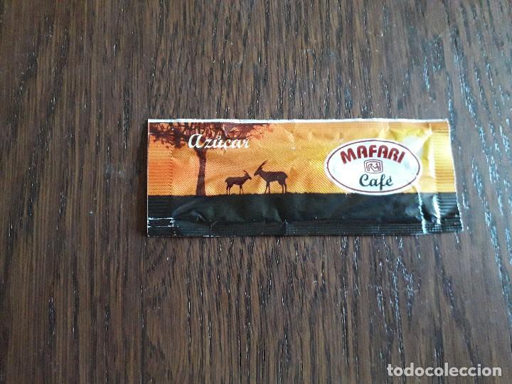 Sobres de azúcar de colección: sobre de azúcar vacío de publicidad, Mafari café. - Foto 2 - 268482704