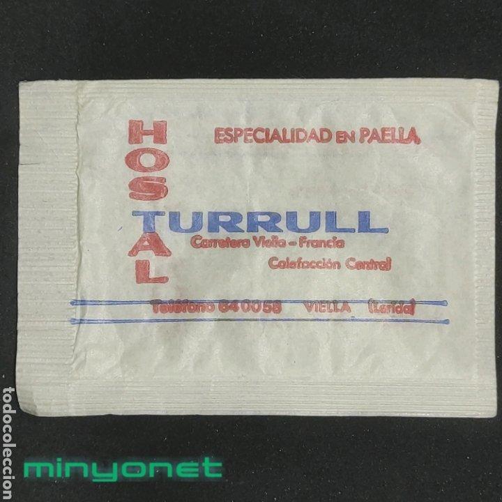 Sobres de azúcar de colección: Sobre de azúcar Hostal Turrull Viella. Tolesa - Foto 2 - 268584724