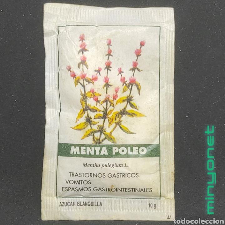 SOBRE DE AZÚCAR SERIE PLANTAS MEDICINALES - MENTA POLEO. CAFÉS LA ESTRELLA. PRODUCTOS DEL CAFE. 10 G (Coleccionismos - Sobres de Azúcar)