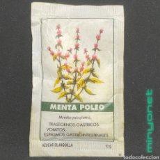 Sobres de azúcar de colección: SOBRE DE AZÚCAR SERIE PLANTAS MEDICINALES - MENTA POLEO. CAFÉS LA ESTRELLA. PRODUCTOS DEL CAFE. 10 G. Lote 268587979