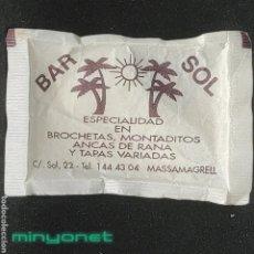 Sobres de azúcar de colección: SOBRE DE AZÚCAR DEL BAR SOL DE MASSAMAGRELL. CAFÉ VENTURA. 10 GR.. Lote 270535768