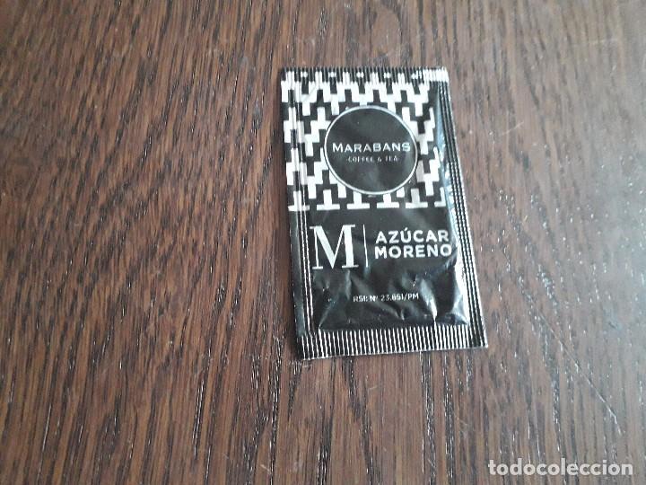 Sobres de azúcar de colección: sobre de azúcar vacío de publicidad, Marabans coffee. - Foto 2 - 276092523