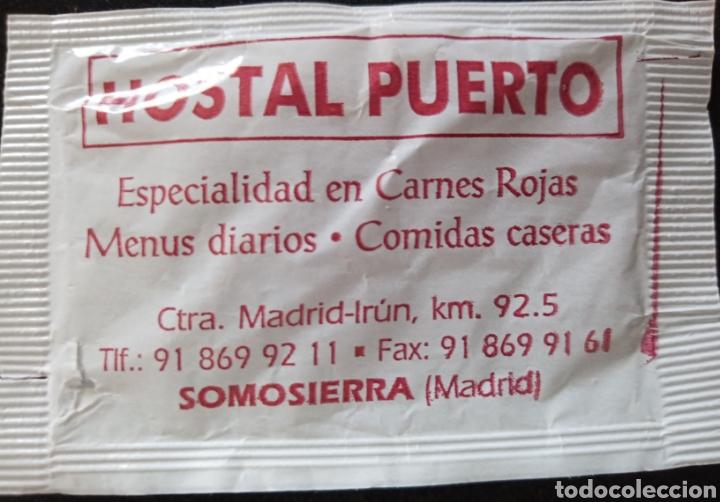 Sobres de azúcar de colección: SOBRE DE AZÚCAR HOTEL PUERTO. SOMOSIERRA - Foto 2 - 276139643