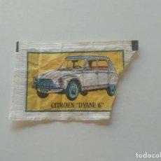 Sobres de azúcar de colección: SOBRE DE AZUCAR VACÍO AUTOMOVILES, COCHES ANTIGUOS: CITROEN DYANE 6 PUBLICIDAD CAFES BRASILIA. Lote 277267963