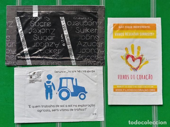 3 SOBRES DE AZUCAR DE PORTUGAL (Coleccionismos - Sobres de Azúcar)