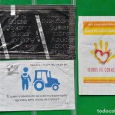 Sobres de azúcar de colección: 3 SOBRES DE AZUCAR DE PORTUGAL. Lote 278472358