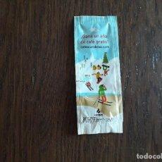 Pacotes de Açúcar de coleção: SOBRE DE AZÚCAR VACÍO DE PUBLICIDAD, CAFÉ CANDELAS, DIBUJO ESQUIADORES, NIEVE.. Lote 280218223