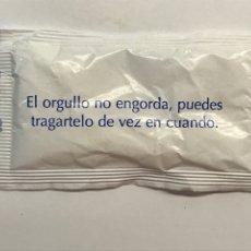 Sobres de azúcar de colección: SOBRE DE AZÚCAR, EL ORGULLO NO ENGORDA, PUEDES TRAGARTELO DE VEZ EN CUANDO .. (2021). Lote 287765228