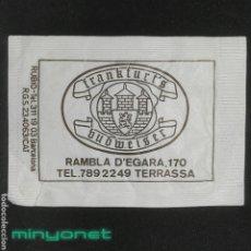 Sobres de azúcar de colección: SOBRE DE AZÚCAR FRANKFURT'S BUDWEISER. TERRASSA. RUBIO, 10 GR.. Lote 287992443