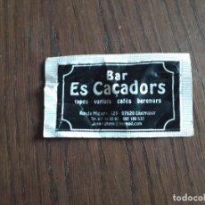 Sobres de azúcar de colección: SOBRE DE AZÚCAR VACÍO DE PUBLICIDAD, BAR ES CAÇADORS, LLUCMAJOR. MALLORCA.. Lote 288211088