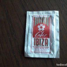 Sobres de azúcar de colección: SOBRE DE AZÚCAR VACÍO DE PUBLICIDAD, CAFÉS IBIZA.. Lote 288211733