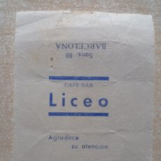 Sobres de azúcar de colección: ANTIGUO ENVOLTORIO DE TERRÓN DE AZÚCAR.. Lote 294946798