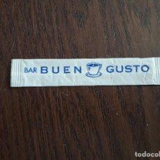 Sobres de azúcar de colección: SOBRE DE AZÚCAR VACÍO DE PUBLICIDAD, BAR BUEN GUSTO, LLEIDA.. Lote 296046698